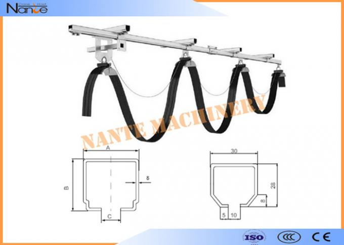 Outdoor C Track Festoon System Cable Trolley High Strength