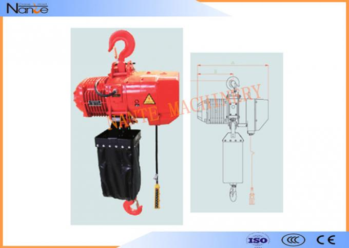 Fixed Type Air Chain Hoist Electric Cable Hoist Allows  Immediate Braking 2