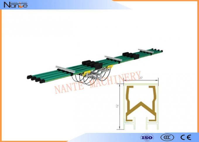 Aluminium Copper Crane Conductor Bar Large Power Available Easy Installation