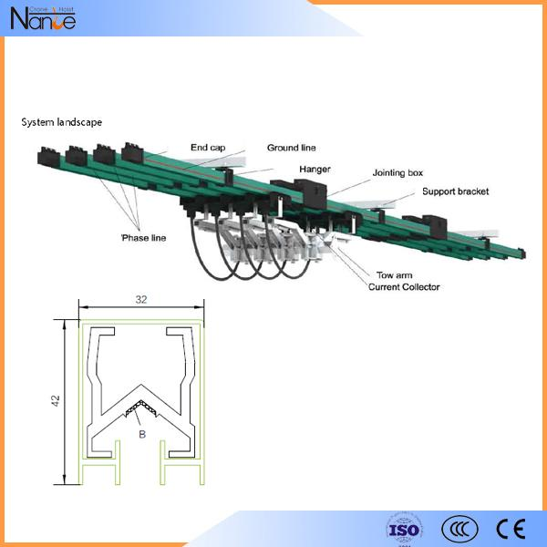 High Safety Insulation Housing Crane Busbar System , Corrosion Resistance
