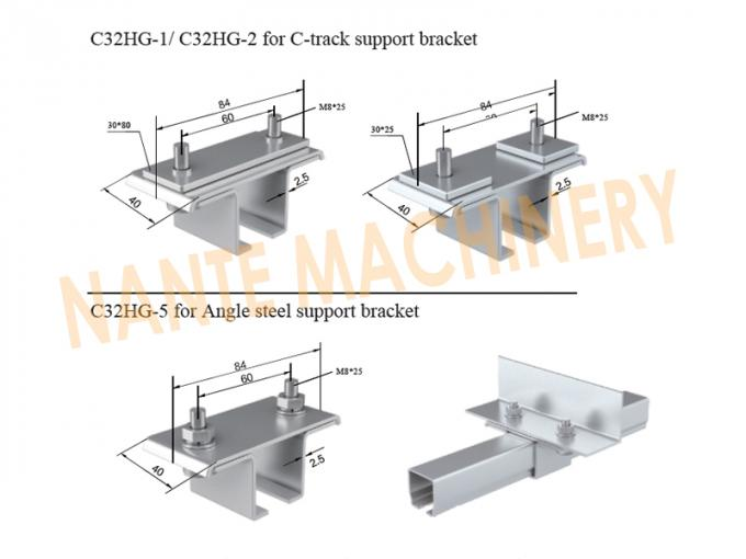 Galvanized Steel C32 Hanger For C-track & Angle Steel Support Bracket Festoon Cable Systems