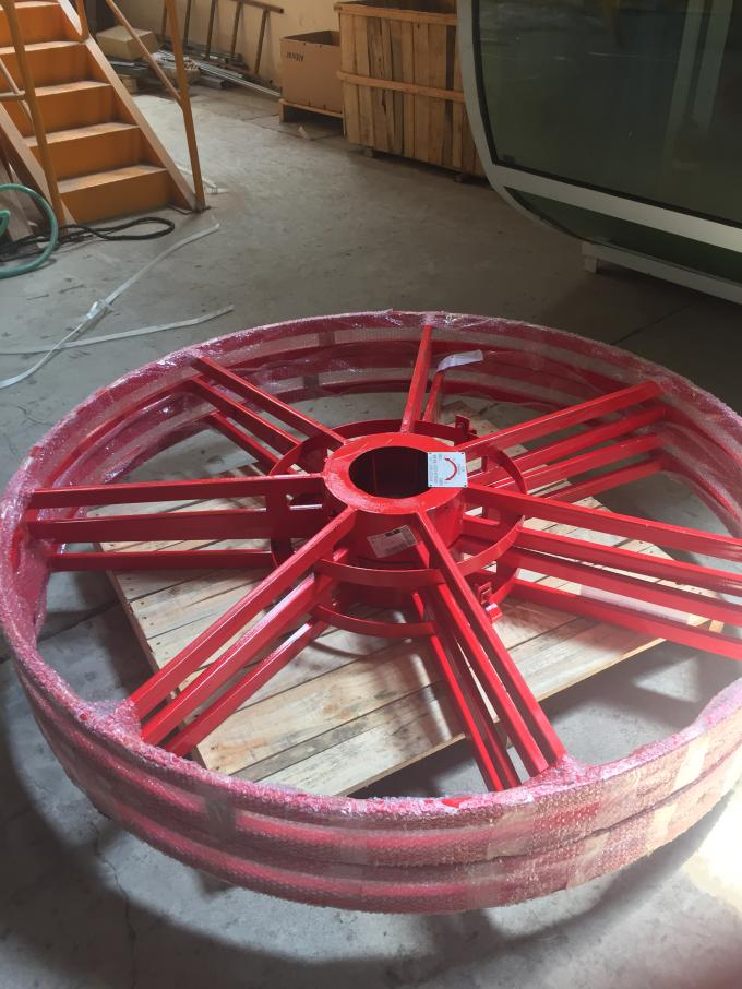 Red Painting Cable Reeling Drum With Motor Horizontal/ Vertical Installation Type