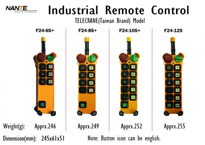 8 Buttons Handheld Radio Industrial Telecrane Remote Control Original From Taiwan