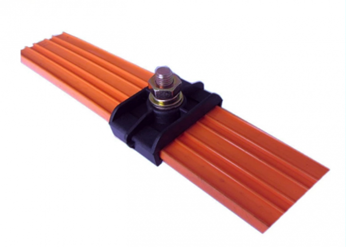 CE / CCC High Tro Reel 4 Pole Seamless Copper Conductor Rail For Crane