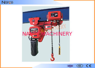China Light And Durable Harrington Chain Hoist 3m To 130m Length Water Proof Push Button supplier