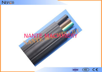China Mixed PVC Flat Electric Cable Copper Strand Flat Power Cable Black Or Grey supplier