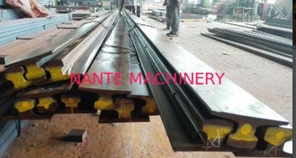 China A75 Type Safety Steel Crane Rail For Overhead Crane , 75 mm Head Width 45 mm Web Thick supplier