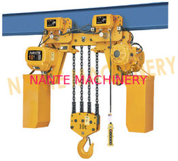 Electric Rope Hoist / 10 Ton 5 Ton Electric Hoist With Double Cover Protection