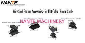 Firm And Flexible Wire Steel Festoon Accessories For Festoon Cable System
