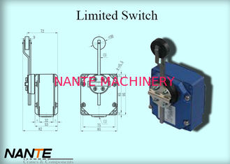 China Electric Wire Rope Hoist 6mm Rotary Metal Rod Trigger Head Limited Switch supplier
