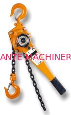 Yellow Electric Wire Rope Hoist 500kg 1 Ton Lever Block With CE Certificate