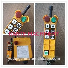 6 Button Double Speed Wireless Hoist Remote Control For Industrial Crane