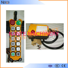 Yellow 11 Programmable Double Step Pushbutton Wireless Hoist Remote Control