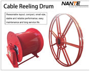 China Vertical IP65 380v / 440v Cable Reeling Drum With Red Surface Customized factory
