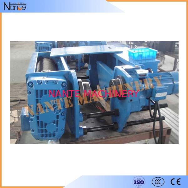 Electric Single Track Heavy Duty Rope Hoist Machine Metallurgy H Beam
