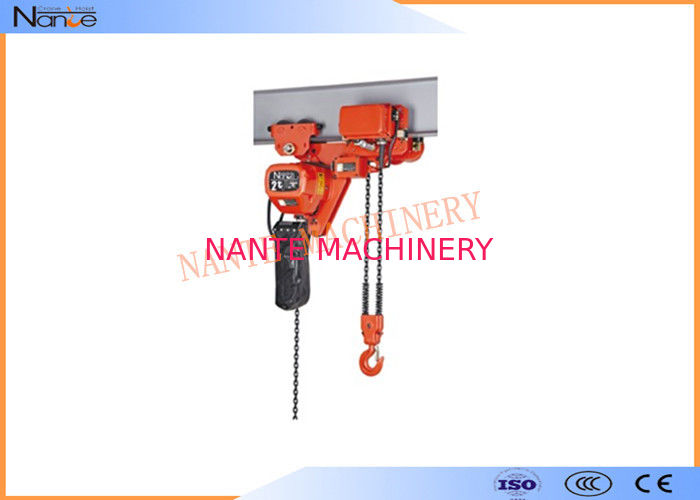 250kg Electric Chain Hoist Chain Fall Hoist Anti - Phase Protection Device