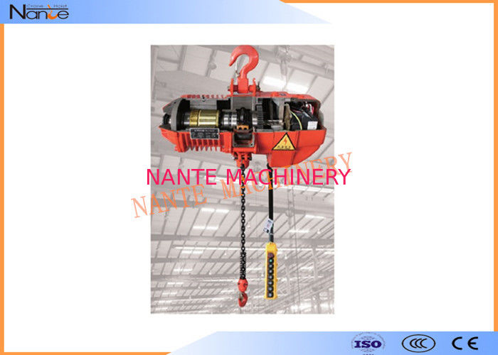 Fixed Type Air Chain Hoist Electric Cable Hoist Allows  Immediate Braking