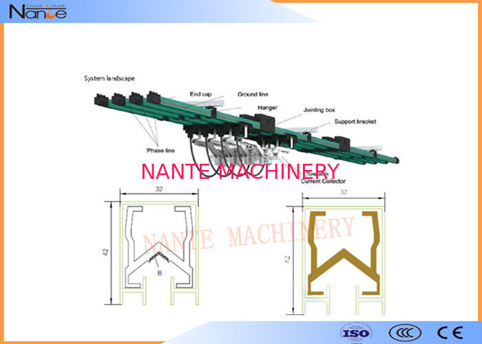 Multiple Supporting Bracket Crane Conductor Bar For Electric Hoists
