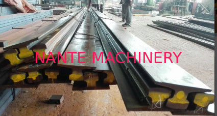 A75 Type Safety Steel Crane Rail For Overhead Crane , 75 mm Head Width 45 mm Web Thick