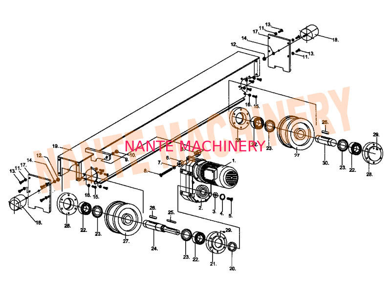Crane Traveling Mechanism HSB Series Crane End Carriage for Single / Double Girder