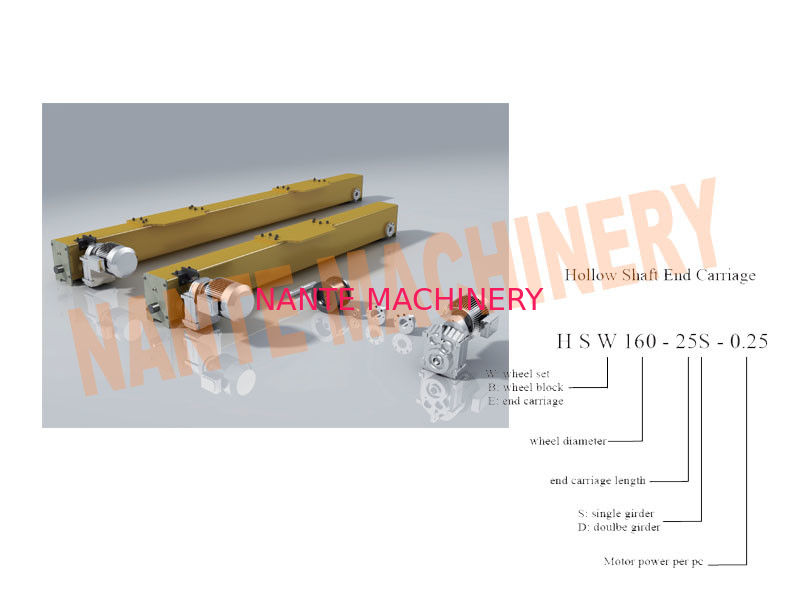 Hollow Shaft End Carriage Easily handling HSE Series for Single Girder Crane
