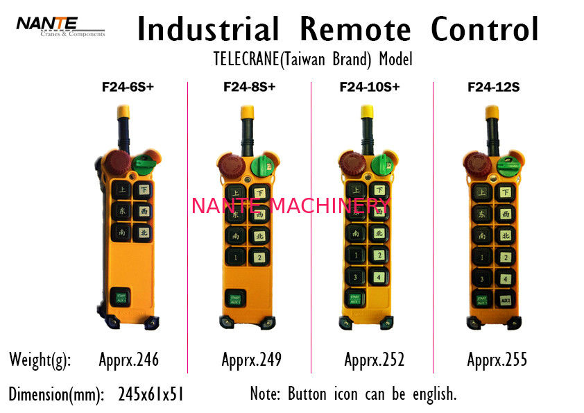 Single / Double Speed Wireless Hoist Remote Control Wireless Industrial Remote Controller F24+ Series
