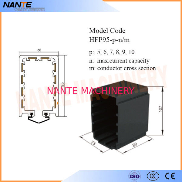 End Cap For HFP95 Series Enclosed Conductor Rail Poles 5,6,7,8,9,10 Max. Voltage 660V