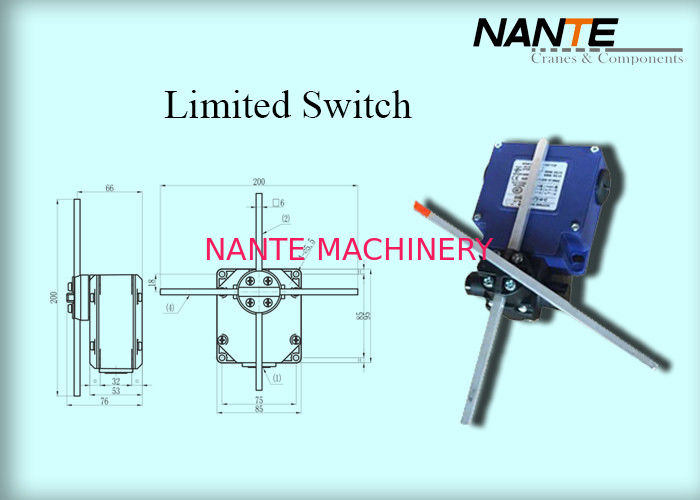 Blue Electric Wire Rope Hoist Steel Holding Limited Switch Used In Hoist And Complex Crane System