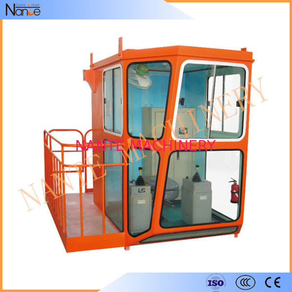Red 1.1m / 1.4m Width Overhead Crane Cabin For Operator Cab