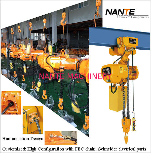 Maintenance HHBB Electric Chain Hoist With Hook High Configuration