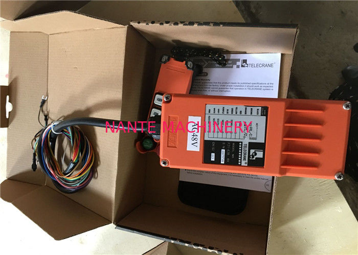 Single Speed Push Button Hoist Pendant Control for Crane , remote controlling