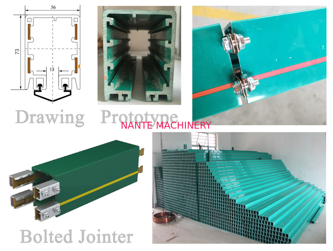 Enclosed Conductor Rail HFP Series Busbar for Overhead Crane, PVC Housing