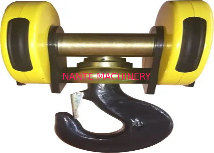 Yellow Color Electrical Low Headroom Hoists Hook Assembly With 30t Capacity