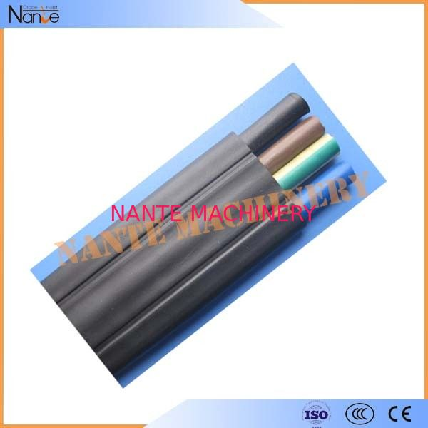 Rubber Insulated Sheathed Flat Traveling Cable For Crane / Hoist 6 x 2.5