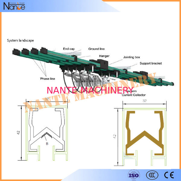 150A - 5000A Flexible Insulated Single Pole Conductor Bar For Crane