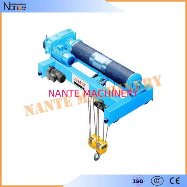 Industrial Quadrate Electric Wire Rope Hoist Standard Low Headroom Trolley Hoist