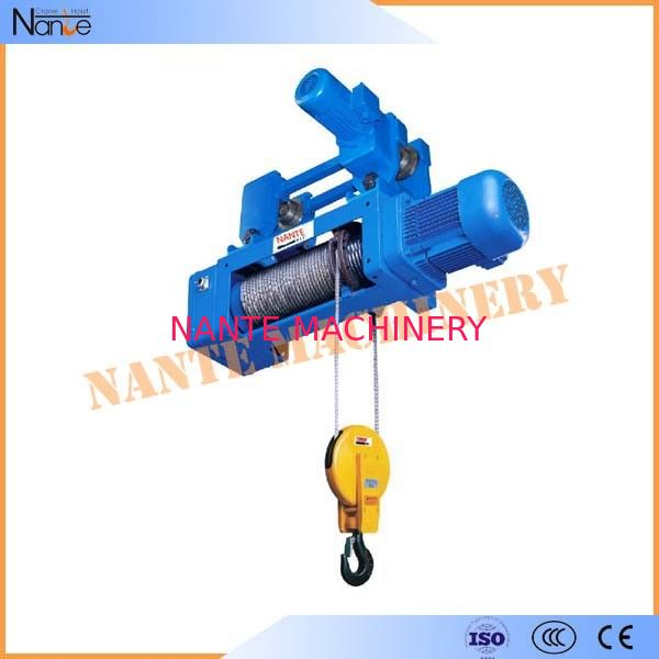High Speed Monorail 220V - 440V Electric Wire Rope Hoist with Trolley