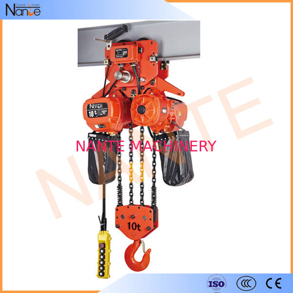 High Efficient 25 Ton / 40 Ton Electric Chain Hoist With Motorized Trolley