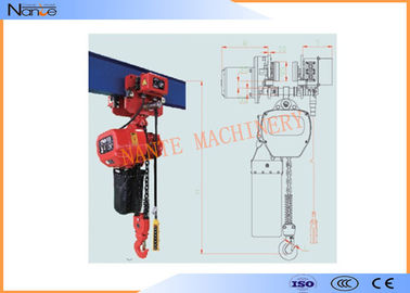 China Single Phase IP54 / IP55 10 Ton Electric Chain Hoist Can Use In Rain Sea Chemicals factory
