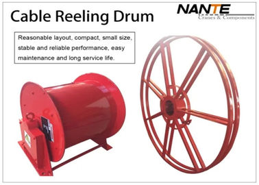 China Red Color Motorized Cable Reeling System With Optimal Corrosion Protection factory