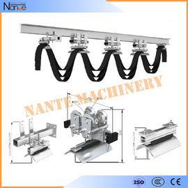 Cable Ball bearing H / I Beam Trolley Festoon System With Neoprene Bumper 300m/min