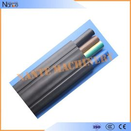 China Rubber Insulated Sheathed Flat Traveling Cable For Crane / Hoist 6 x 2.5 factory