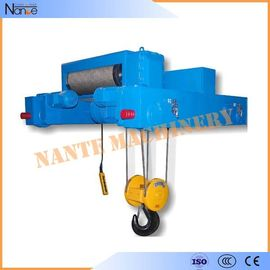 China Industrial 40 Ton / 80 Ton Heavy Duty Rope Hoist Double Girder Winch Trolley factory