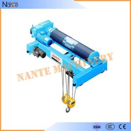 China Industrial Quadrate Electric Wire Rope Hoist Standard Low Headroom Trolley Hoist factory