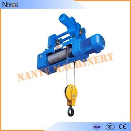 China High Speed Monorail 220V - 440V Electric Wire Rope Hoist with Trolley factory