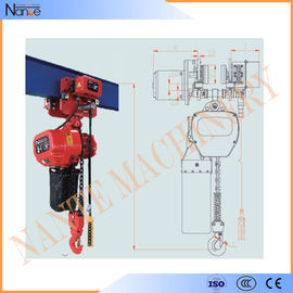 China Remote Control 20 Ton / 30 Ton Electric Chain Hoist With Running H Beam factory