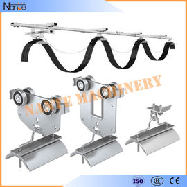 China Galvanized Steel C Track Festoon System Overhead Trolley for Flat Cables factory