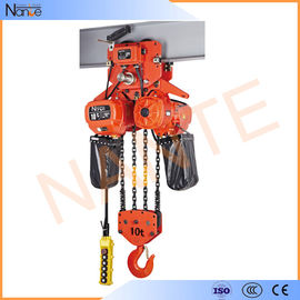 China High Efficient 25 Ton / 40 Ton Electric Chain Hoist With Motorized Trolley factory