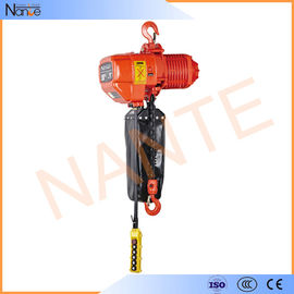 China Low Headroom Electric Chain Hoist Long Chain Lifting With Double Speed factory